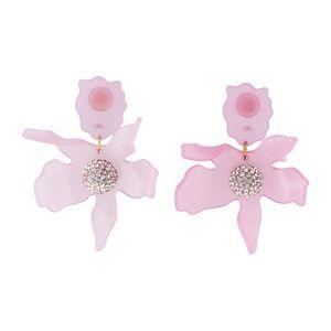 NWT Anthro Lele Sadoughi Pink Lily Earrings